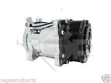 Sanden style 508 12V Compressor Chrome Serpetine GM Chevrolet Ford Universal