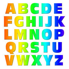 Alphabet Letters Uppercase Rainbow - MAG-NEATO'S™ Refrigerator Vinyl Magnet Set