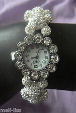 Stunning Shamballa Czech Crystal Bracelet Watch-FREE Matching Bracelet Value $15