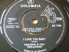 """FREDDIE & THE DREAMERS-i love you baby 7"""" vinyle"""