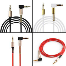 1x 3.5mm Car Auxiliary Male To Male Aux Cord Angle Audio Cable Line Universal