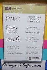NEW Stampin Up ONE IN A MILLION Clear Mount Baby Birthday Sentiment Stamps