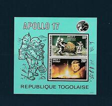 Togo bloc  espace Apollo 17    de 1973    num:  68   **