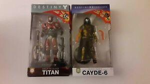 McFarlane Toys Destiny Vault of Glass Titan & Cayde 6 Gunslinger (NO EMBLEMS!)