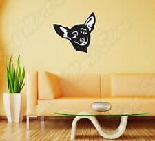 "Chihuahua Dog Pet Friend Wall Sticker Room Interior Decor 25""X20"""