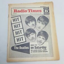 Vintage RADIO TIMES December 5th 1963 THE BEATLES Cover BBC Juke Box Jury