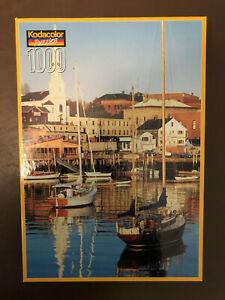 Kodacolor Sealed Vintage 1000 Piece Jigsaw Puzzle Camden Harbor NEW
