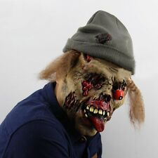 Scary Zombie Grave Keeper Mask Adult Latex Full Head Mask Halloween Props