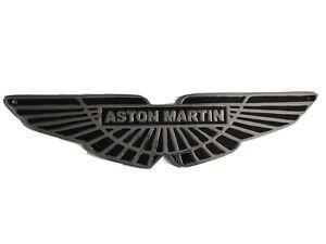 ASTON MARTIN CAST ALUMINIUM PLAQUE BLACK PAINT GARAGE SIGN
