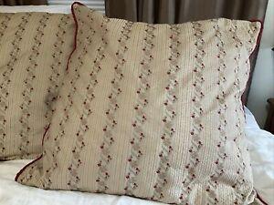 """Silk Brocade Custom Made ABC Carpet & Home Euro Shams Set/ 2 26"""" Square"""