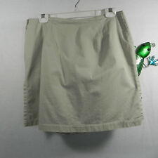 Crazy Horse Womens Skort Shorts Skirt 100% Cotton 12 Tan Beige Side Zipper
