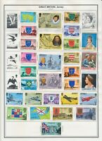 STAMPS: Alderney. Guernsey, Jersey, Isle of Man, Morocco. On Harris Album pages