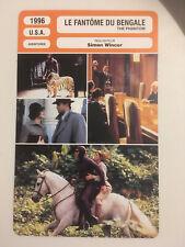 CARTE FICHE CINEMA 1996 LE FANTOME DU BENGALE Billy Zane Kristy Swanson
