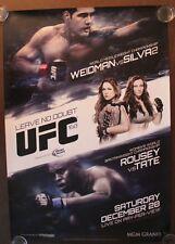 Official UFC 168 Weidman vs Silva 2 Poster 27x39 (Near Mint)