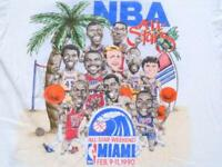 Vintage 1990 Heather Gray Weekend Miami T Shirt Reprint XL tee Family Noel DD690