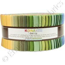 "Robert Kaufman Kona Cotton Solids Dusty Jelly Roll Fabric Up 40 2.5x44"" Strips"