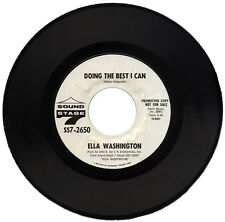 """ELLA WASHINGTON  """"DOING THE BEST I CAN c/w SWEETER AND SWEETER""""  DEMO"""