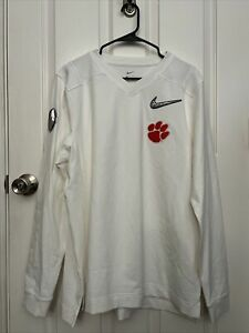 Clemson Tigers College football Playoff On Field player Issued Long Sleeve Sz L