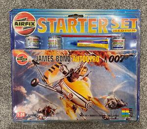 1996 AIRFIX James Bond Little Nellie Autogyro 04401 Starter Set *FACTORY SEALED*