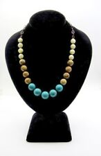 CHAN LUU Beaded Necklace Turquoise, Sandstone, Mother of Pearl Sterling Silver