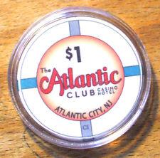 $1. The Atlantic Club Hotel Casino Chip - 2012 - Atlantic City, New Jersey