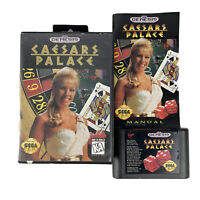 Sega Genesis Caesars Palace Casino Game Complete With Manual