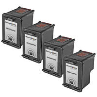 4PK C9362WN BLACK Ink for HP 92 OfficeJet 6310 6310v 6310xi PSC 1507 1510 1510xi