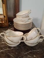 8+1 Vintage 1961 Kaysons Fine China Golden Rhapsody Tea Cup & Saucer Lot Japan