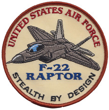 US Air Force F-22 Raptor Stealth By Design Embroidered Patch ** LAST FEW **