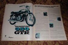 1967 Mint Print Ad Poster Bridgestone 350 GTR Motorcycle 350 2 pg