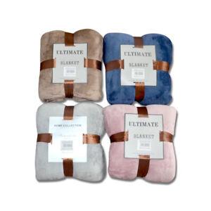 Large King Fleece Throw Blanket Sofa Soft Warm Faux Fur Mink Bedspread Fast