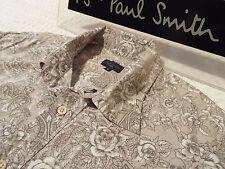 "PAUL SMITH Mens Shirt 🌍 Size L (CHEST 44"") 🌎 RRP £95+ 📮 FLORAL & SKULLS PRINT"
