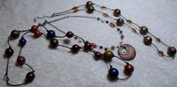 VINTAGE TO NOW ASSORTED MULTI COLOR WOOD BEADED NECKLACE LOT