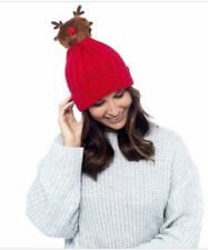 2fc272279d5 Reindeer Beanie HAT Novelty Unisex Woolly Winter Fancy Dress Partywear XMAS  Gift