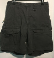 Wrangler Mens Authentic Issue Classic Chino Cargo Shorts Slste Gray Size 32