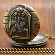 Pocket Watch The Nightmare Before Christmas Vintage Antique Pendant Round Shape