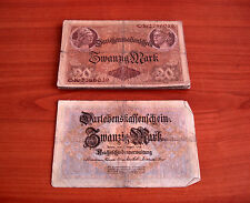 22 Stück Darlehnskassenschein # Zwanzig Mark 20 Mark von 1914 Konvolut