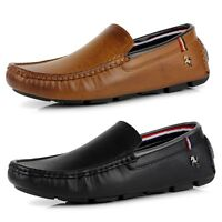 New Mens Casual Smart Designer Slip On Deck Driving Loafers Moccasin Shoes Size