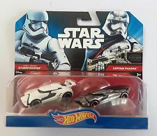 Disney Hot wheels STAR WARS twin pack stormtrooper & captain phasma  - MATTEL
