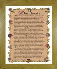 DESIDERATA POEM - FRENCH OAK MDF FRAME 'GO PLACIDLY AMID THE NOISE AND HASTE'