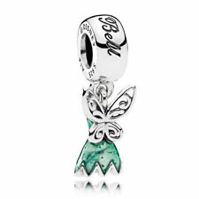 Authentic Pandora Disney Tinker Bell's Dress Glittering Green CHARM 792138EN93