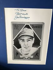 100% AUTHENTIC AUTOGRAPHED JOE DIMAGGIO NY YANKEES SMALL FRAMED & MATTED PIECE