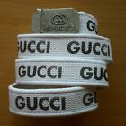 GUCCI CANVAS WHITE BELT, NEW NO TAGS
