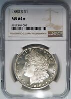 1880 S Silver Morgan Dollar NGC MS 64 Star Deep Mirrors Proof