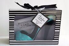 Ganz Fabulous SHOE BUSINESS CARD HOLDER High Heels Open Toe Blue NIB NOS