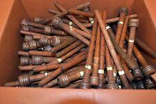 VINTAGE LOT (161) ANTIQUE WOOD & METAL SEWING SPINDLE SPOOLS/BOBBINS