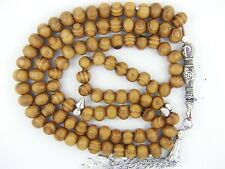 8mm x 99 BURL WOOD PRAYER BEADS  ISLAMIC TASBIH MASBAHA SUBHA SALAH GIFT