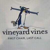 Vineyard Vines Mens White L/S Pocket T-shirt Penguin Ski Sz L ~ NEW TAGS