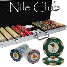 New 500 Nile Club 10g Ceramic Poker Chips Set with Aluminum Case - Pick Chips!