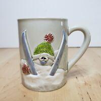 Vintage 1977 Enesco Skiing Snow Coffee Mug E-9218 Tea Cup
